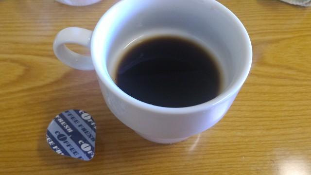 春日井市役所の展望レストランのバイキングのホットコーヒー