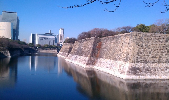 大阪城のお堀