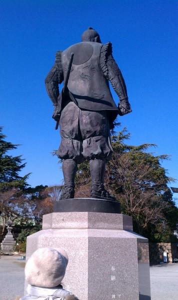大阪市「豊國神社」の豊臣秀吉銅像