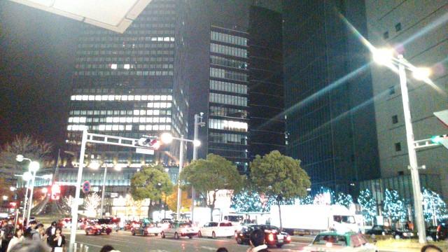 名古屋駅前オフィスタワー方向の電飾
