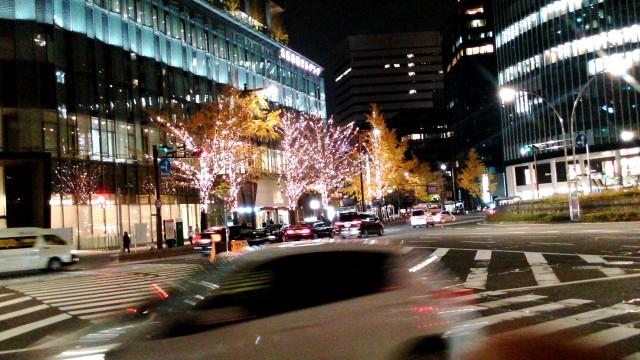 名古屋駅から大名古屋ビルヂングの電飾を見る