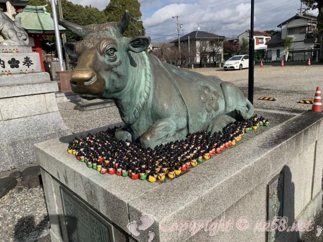 上野天満宮(名古屋市千種区)のなで牛