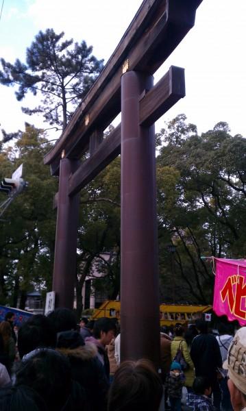 名古屋市中村区の豊国神社境内入り口の鳥居