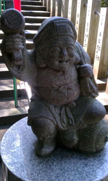 愛知県犬山市寂光院の大黒天様石像