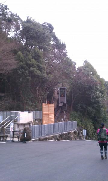 寂光院(愛知県犬山市)のスロープカー