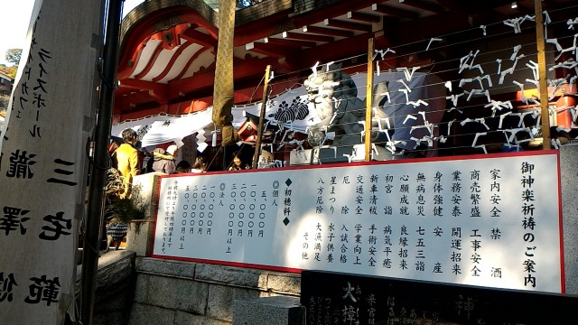 静岡県熱海市来宮神社御神楽祈祷のご案内料金表