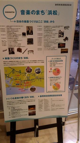 新東名浜松SA内のヤマハのコーナーヤマハの歴史などの解説