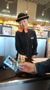 新東名清水PAの可愛らしいコンシェルジュさん