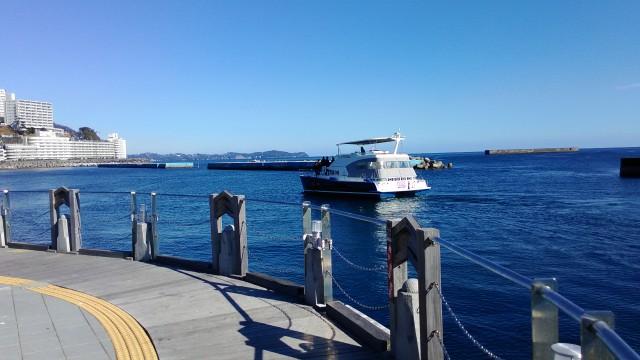 熱海海岸ヨットハーバーの景観
