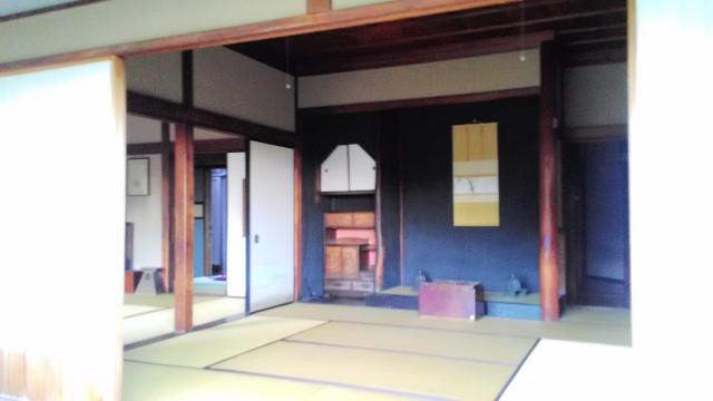 坪内逍遥双柿舎母屋の庭側の部屋(ご夫婦の居間)