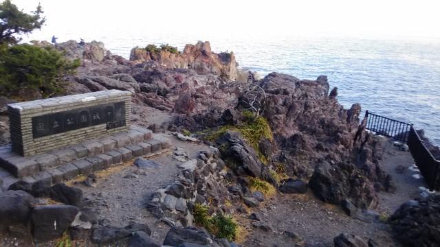 伊東市城ヶ崎海岸の岸壁と柵