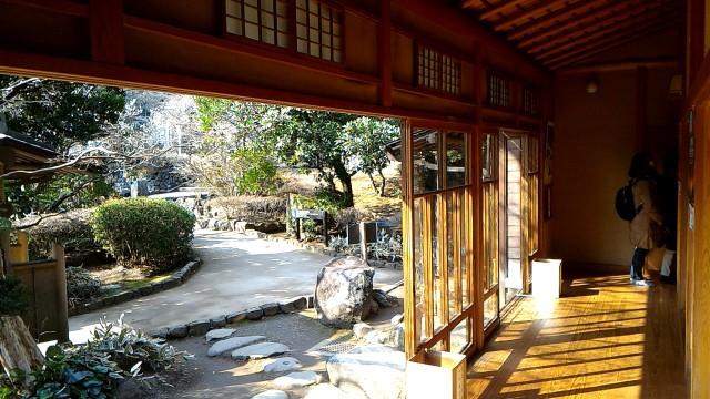 熱海梅園にある中山晋平記念館からの景色