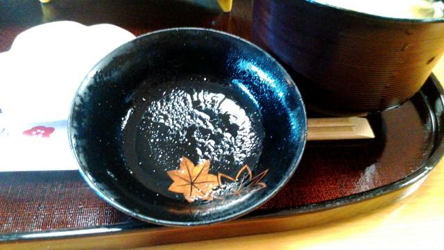MOA美術館のレストラン「桃山」でランチお椀の蓋