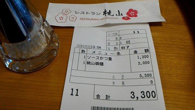 MOA美術館のレストラン「桃山」でランチお会計