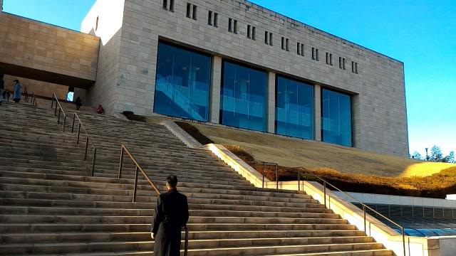 MOA美術館(熱海市)外観と広場