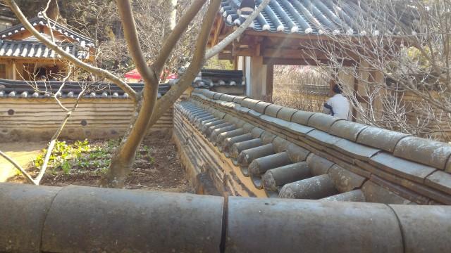 熱海梅園の韓国庭園、塀