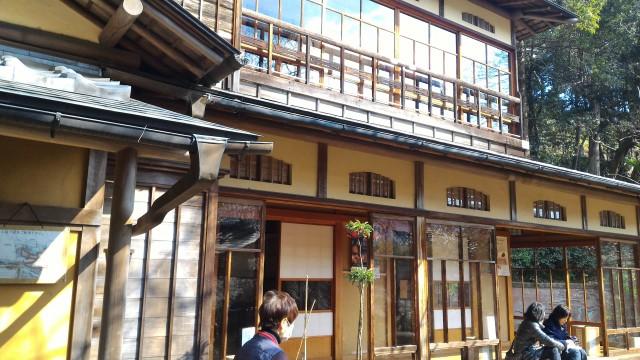 熱海梅園内の中山晋平記念館の外観