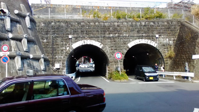 熱海市来宮神社南の車道トンネル