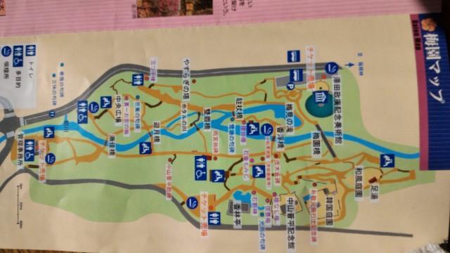 熱海市熱海梅園の地図