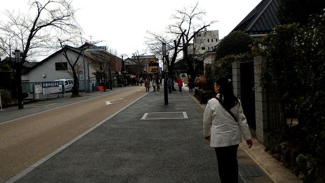 犬山城下町の本町通の様子