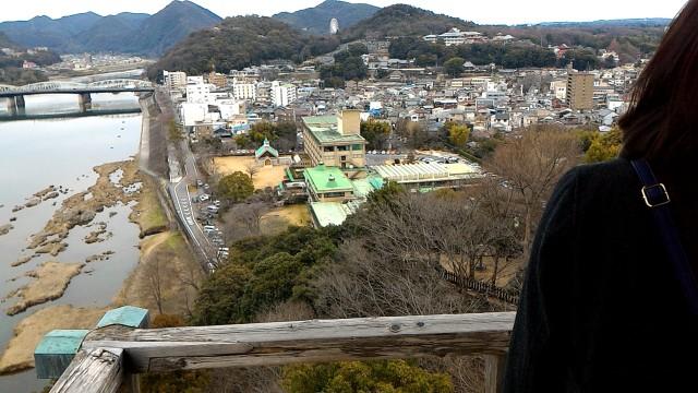 国宝犬山城の天守閣からの絶景