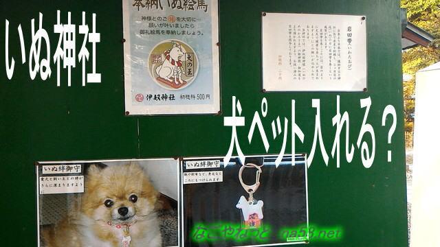 いぬ神社は犬ペット入れる?