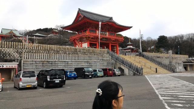 犬山成田山(愛知県犬山市)の下の大きな無料駐車場