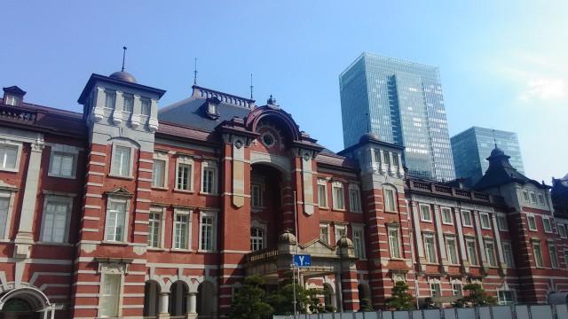 東京駅のレンガの駅舎・駅前広場整備中