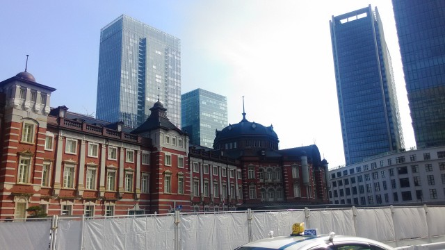 東京駅の南方向・駅前広場整備中