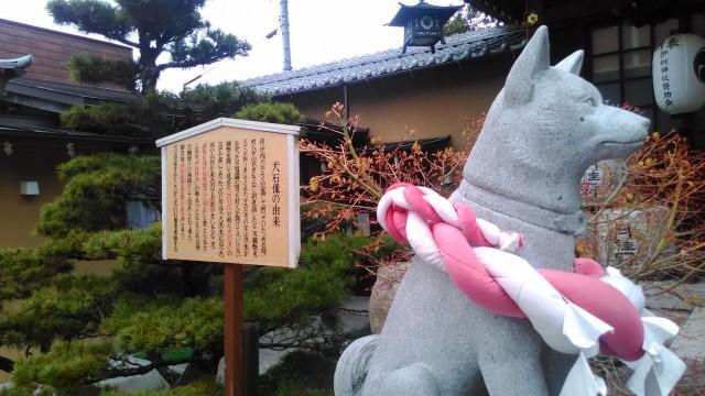 伊奴(いぬ)神社(名古屋市西区)の犬の石像