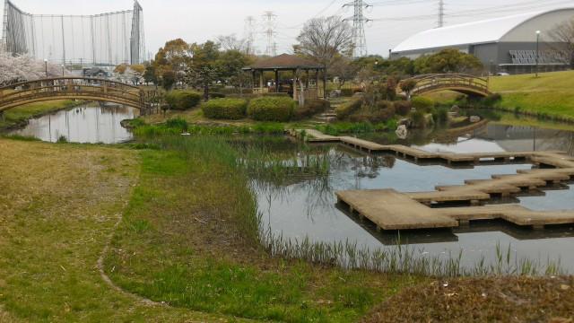 愛知県春日井市落合公園庭園として整備されたところ