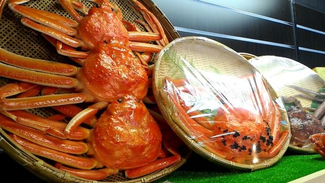 岐阜県郡上市サンプル工房のカニの食品サンプル