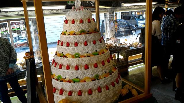 岐阜県郡上市サンプル工房のウエディングケーキのサンプル