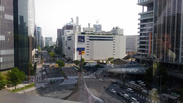 名古屋駅前大名古屋ビルヂングの5階スカイガーデンからの景色