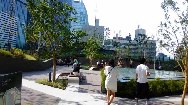 名古屋駅前大名古屋ビルヂングの5階スカイガーデン