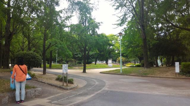 千種公園(名古屋市千種区)南西入り口付近