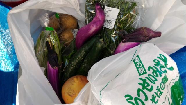 岐阜県恵那市「道の駅らっせいみさと」で購入した農産物野菜