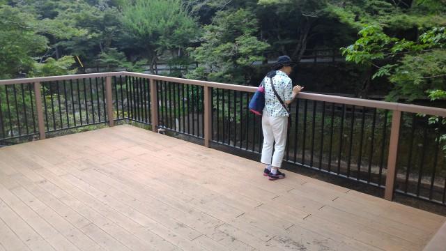 岩屋堂公園(愛知瀬戸市)水(川)遊び天然プールの見守り台