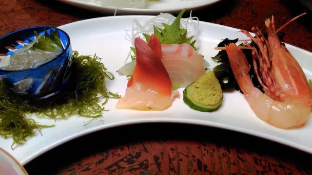 熱海温泉旅館立花の鯛めしプランの料理のお造り