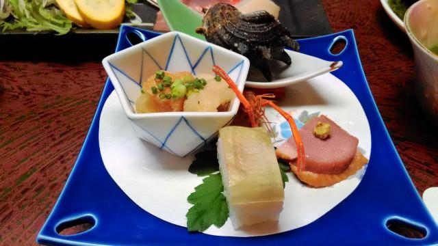 熱海温泉旅館立花の鯛めしプランの料理前菜