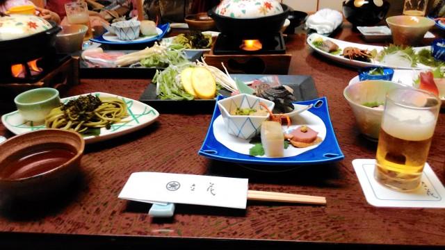 熱海温泉旅館立花の鯛めしプランの料理全体