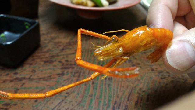 熱海温泉旅館立花の鯛めしプランの料理で川エビ