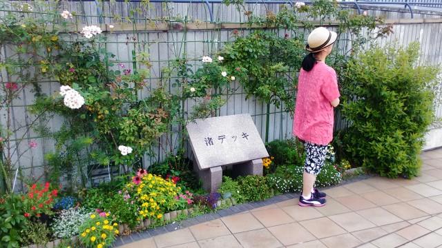 熱海夏の朝・渚デッキのメインスポット(静岡県熱海市)