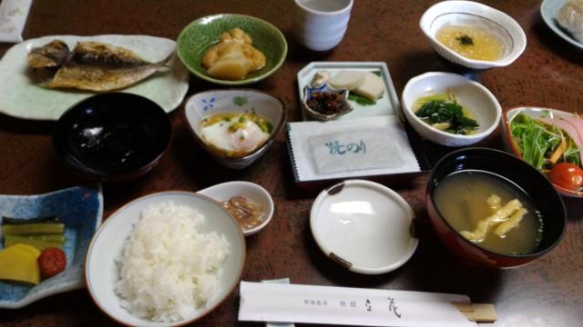 熱海温泉旅館立花の朝食部屋食