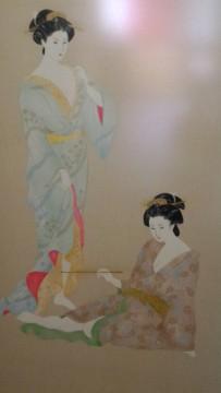 熱海温泉旅館立花の露天風呂から降りる階段にある絵画