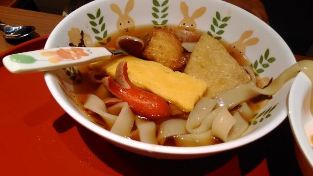 新東名岡崎SAの和食お肉処「かごの屋」お子様きしめん