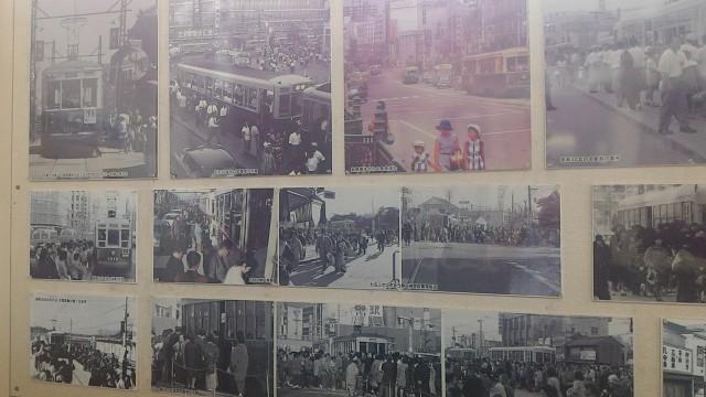 レトロ電車館(名古屋市市電地下鉄保存館)の路面電車の写真昭和30年ごろまでの利用者