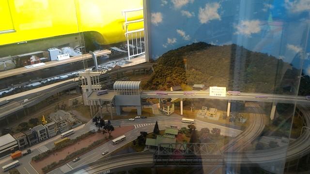 レトロ電車館(名古屋市市電地下鉄保存館)のジオラマ