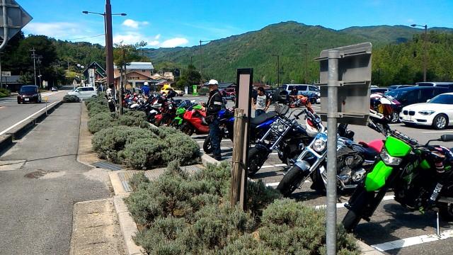 道の駅どんぐりの里いなぶのオートバイ用駐車スペース