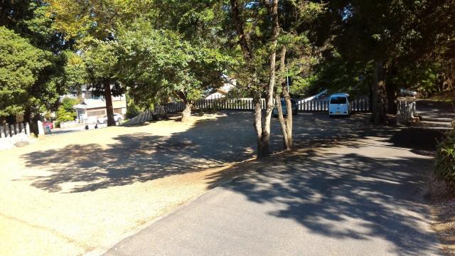 「尾張富士大宮浅間神社」犬山市本堂手前の駐車場